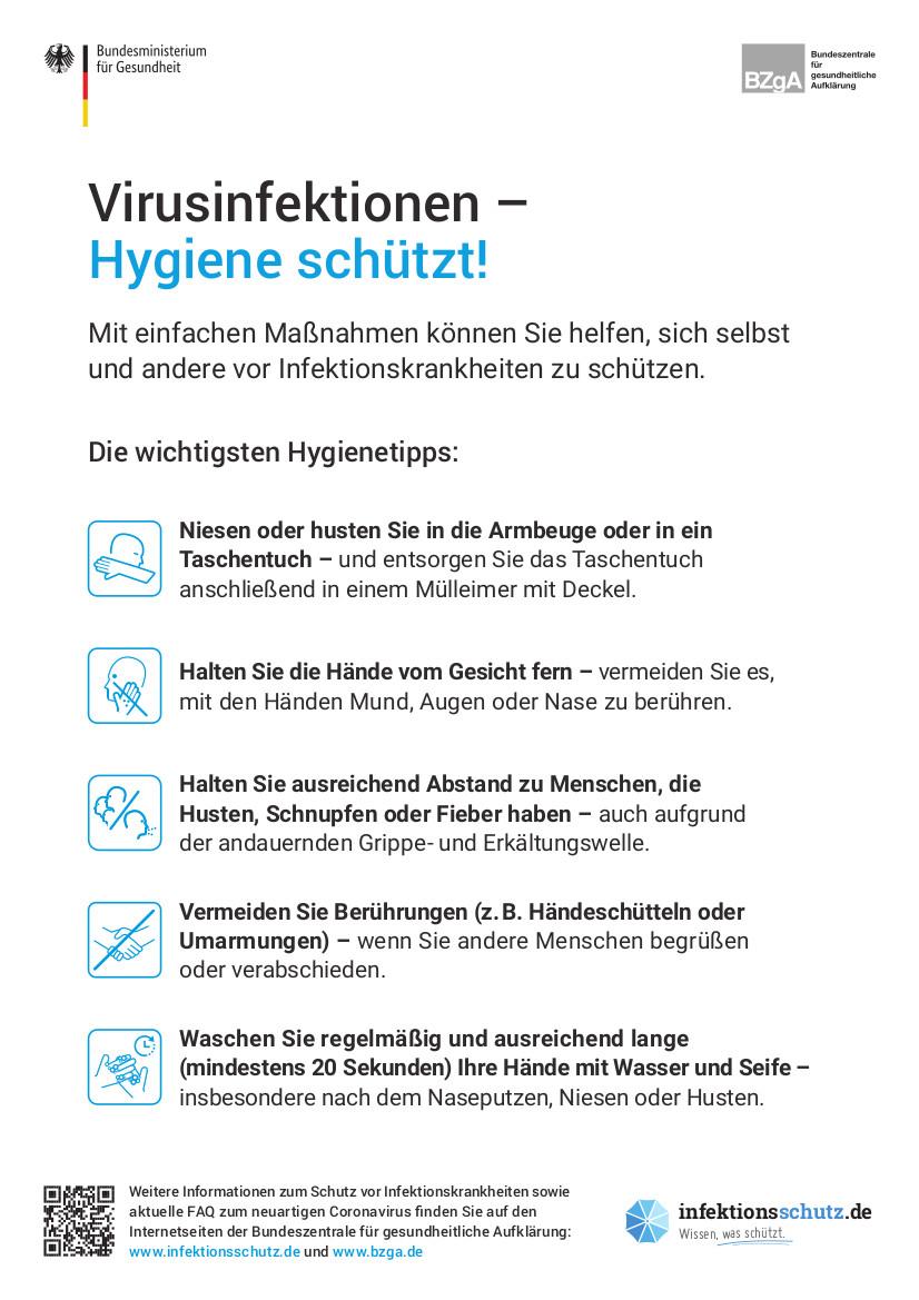 Virusinfektionen – Hygiene schützt!